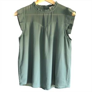 Monteau Sleeveless chiffon blouse medium